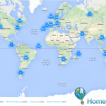 Home Exchange Website Map