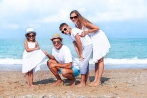 Family, Beach, Vacations.