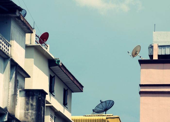 Satellite Dishes on building