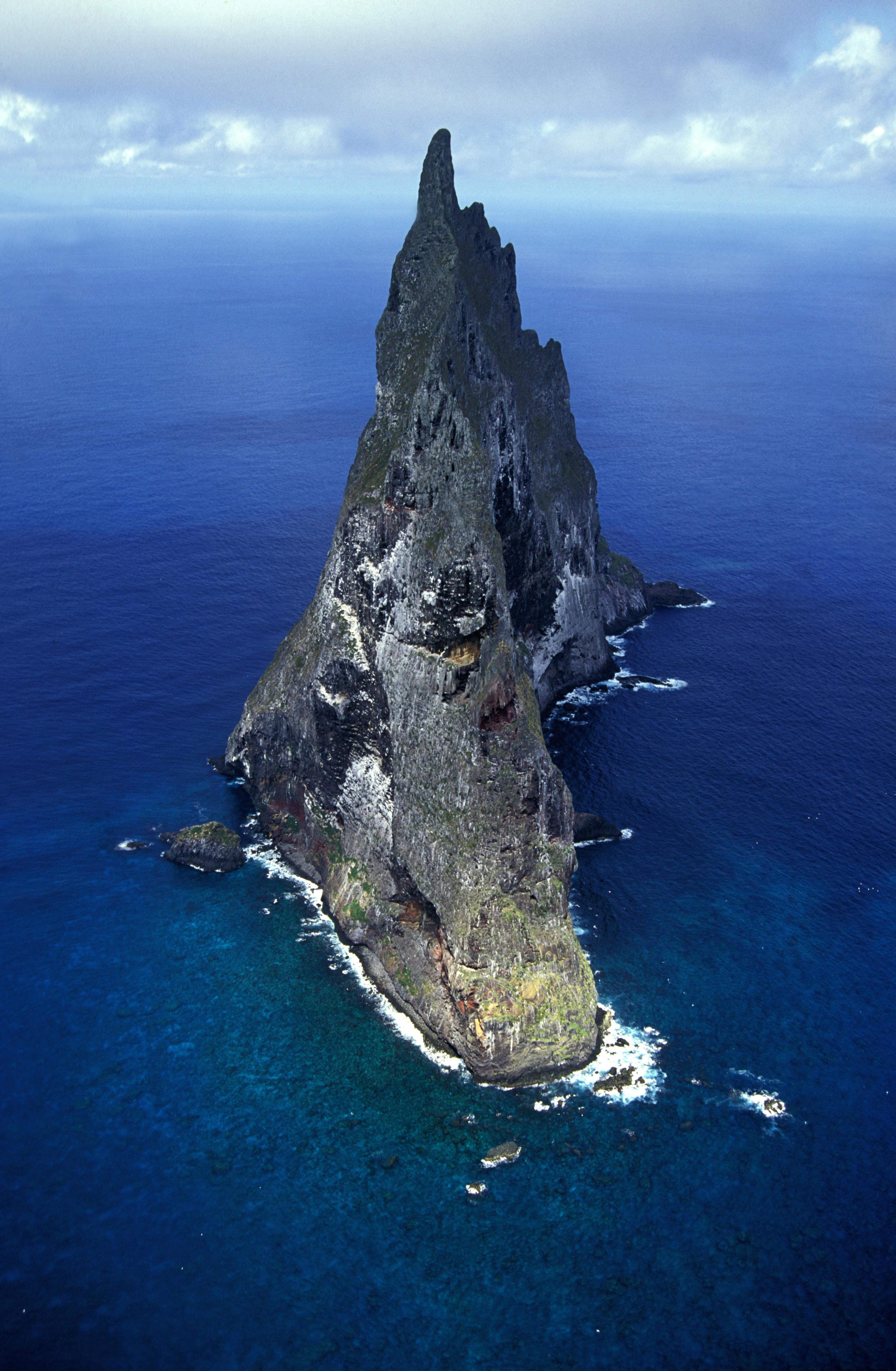 Balls Pyramid off Lord Howe Island Australia