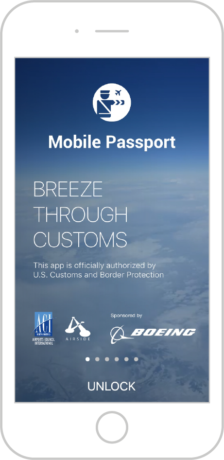 Mobile Passport App Screenshot