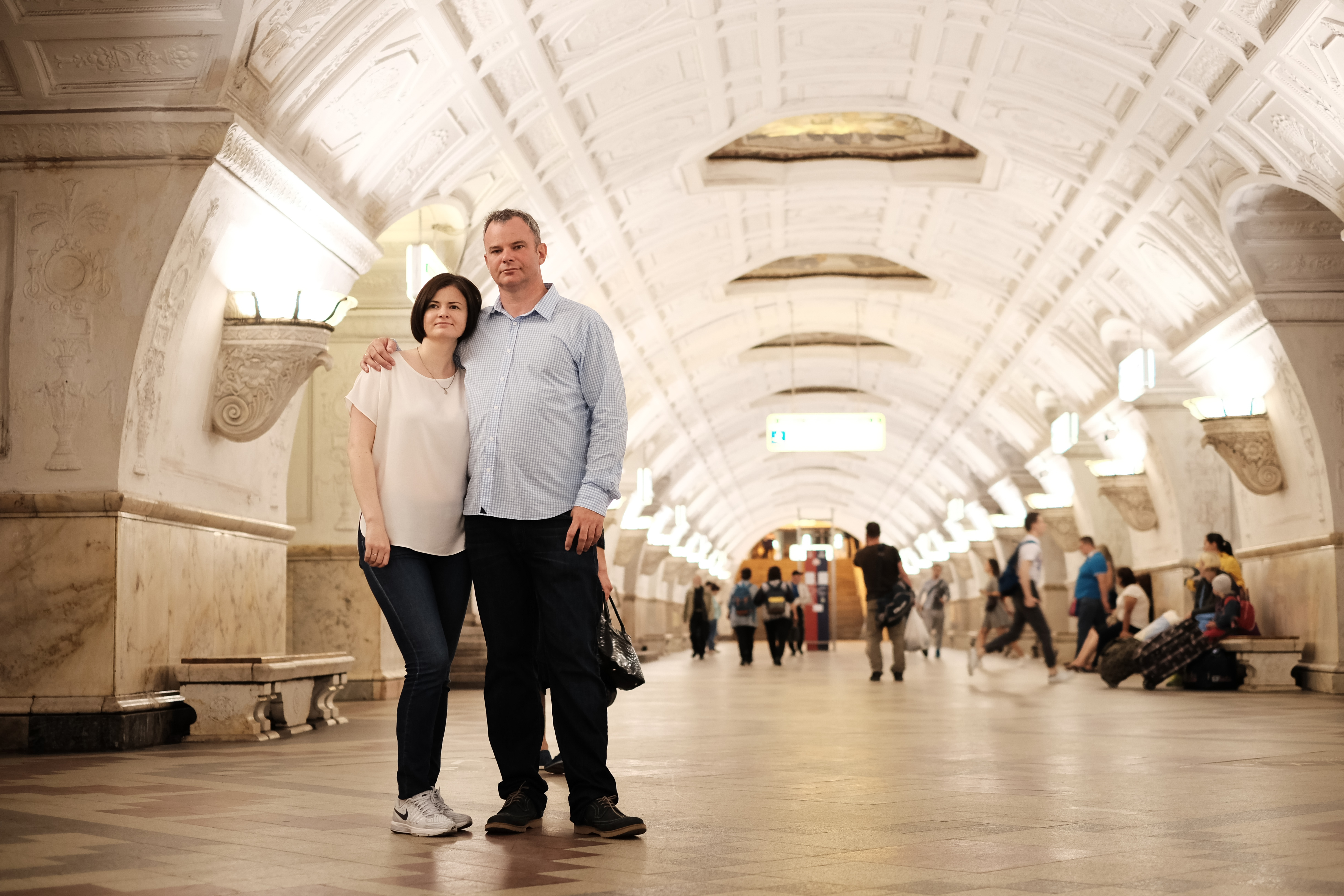 couple visiting Russia