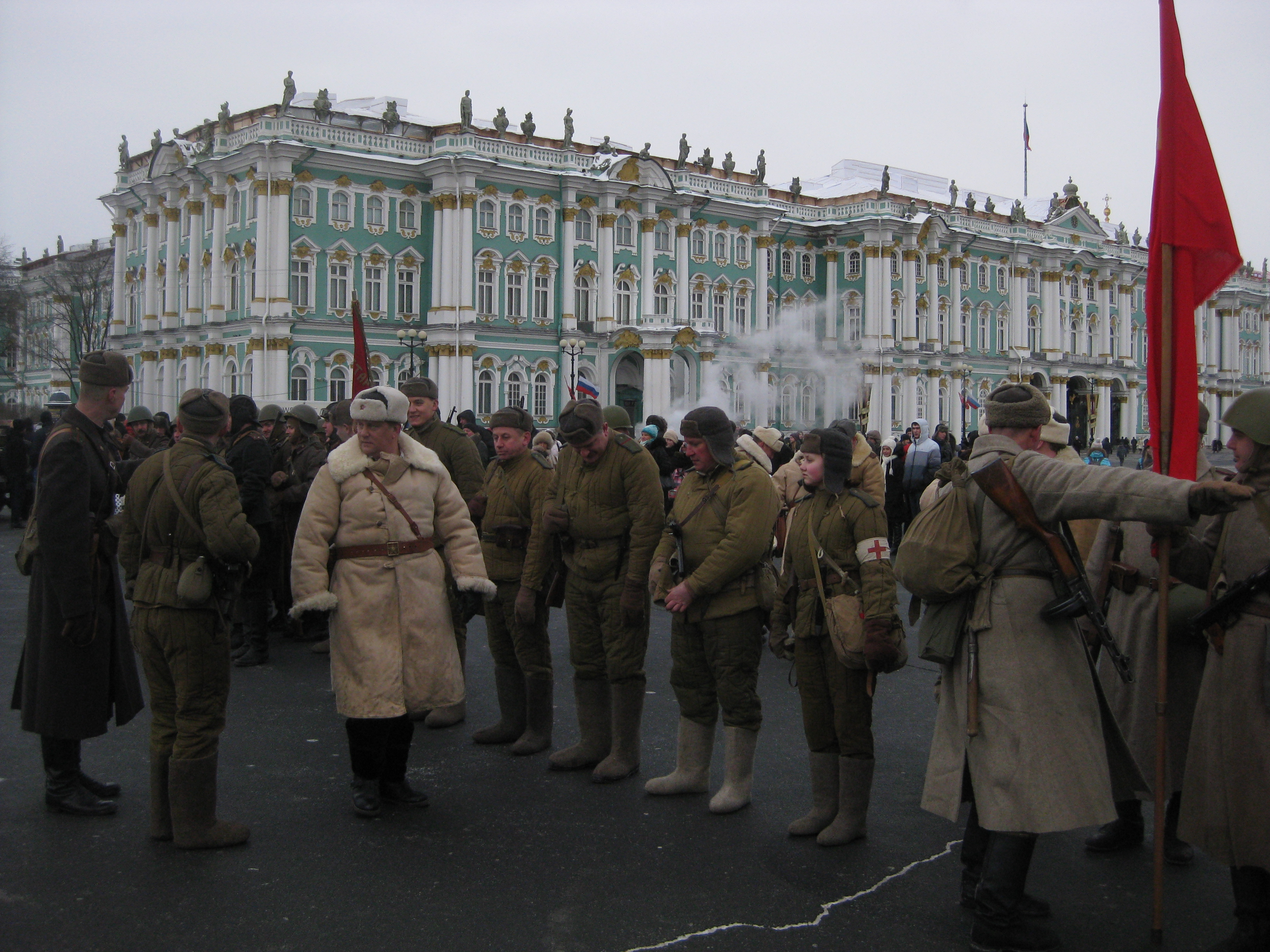 Soviet reenactors in St. Petersburg